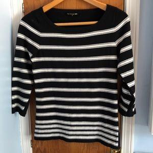 Rag & Bone Black and White Stripe Sweater